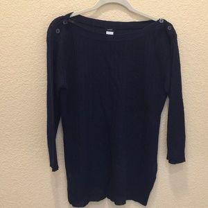 J Crew Navy Blue Linen Sweater